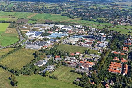 Luftaufnahme Gewerbegebiet Am Wolfsberg