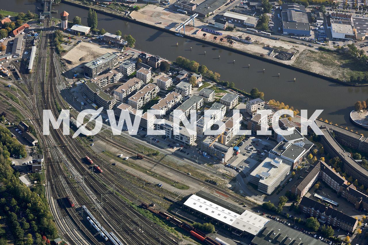 Hafenneubauten Luftbild