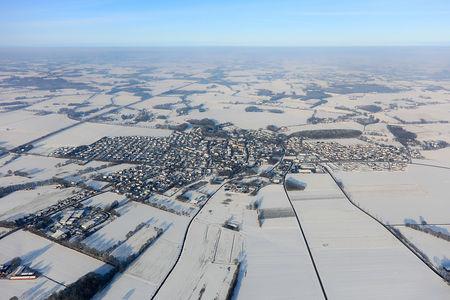 Luftaufnahme Gemeinde Bakum im Winter