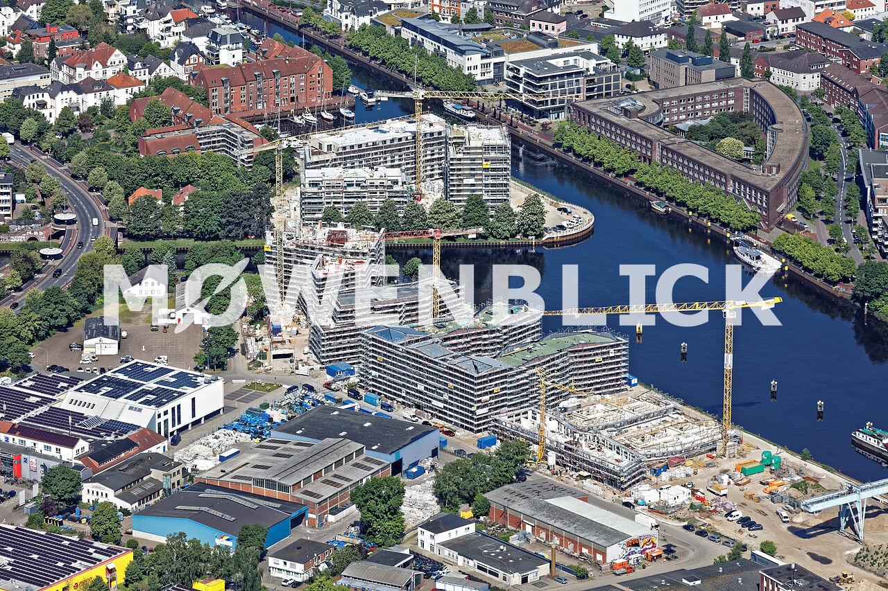 Hafen Süd Bebauung Luftbild