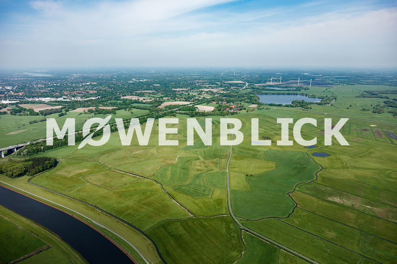 Bornhorster Huntewiesen Luftbild