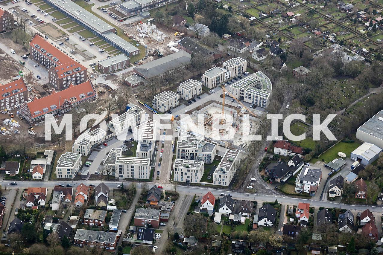 Bebauung Hubschrauberlandeplatz Luftbild