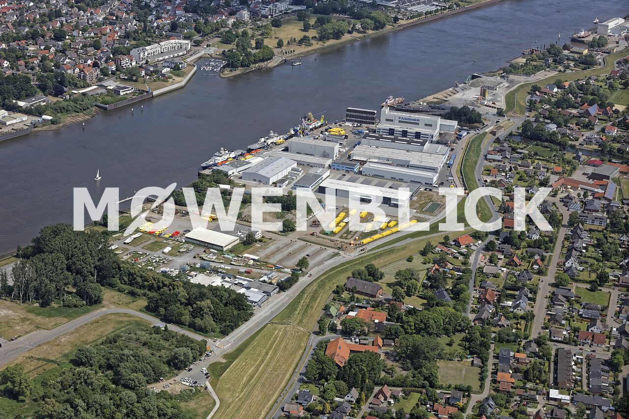 Lürssen Werft Luftbild