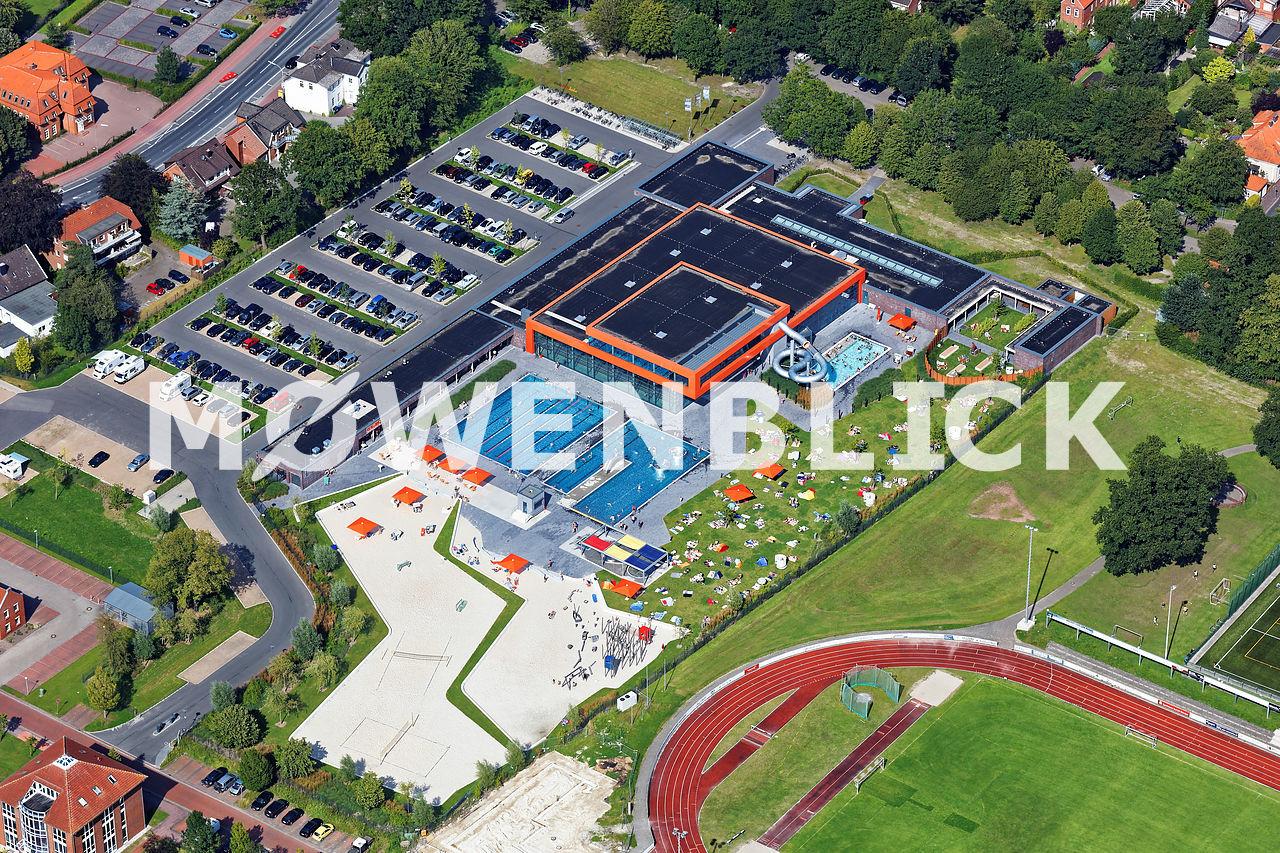 Schwimmbad Aurich De Baalje Luftbild