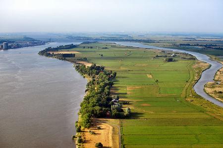 Luftaufnahme Weserinsel