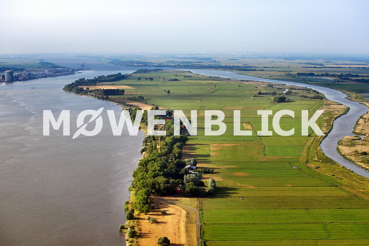 Weserinsel Luftbild