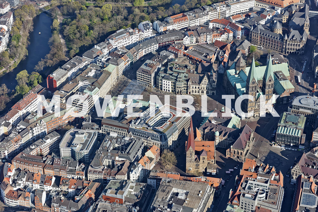 St.Petri Dom Bremen Luftbild
