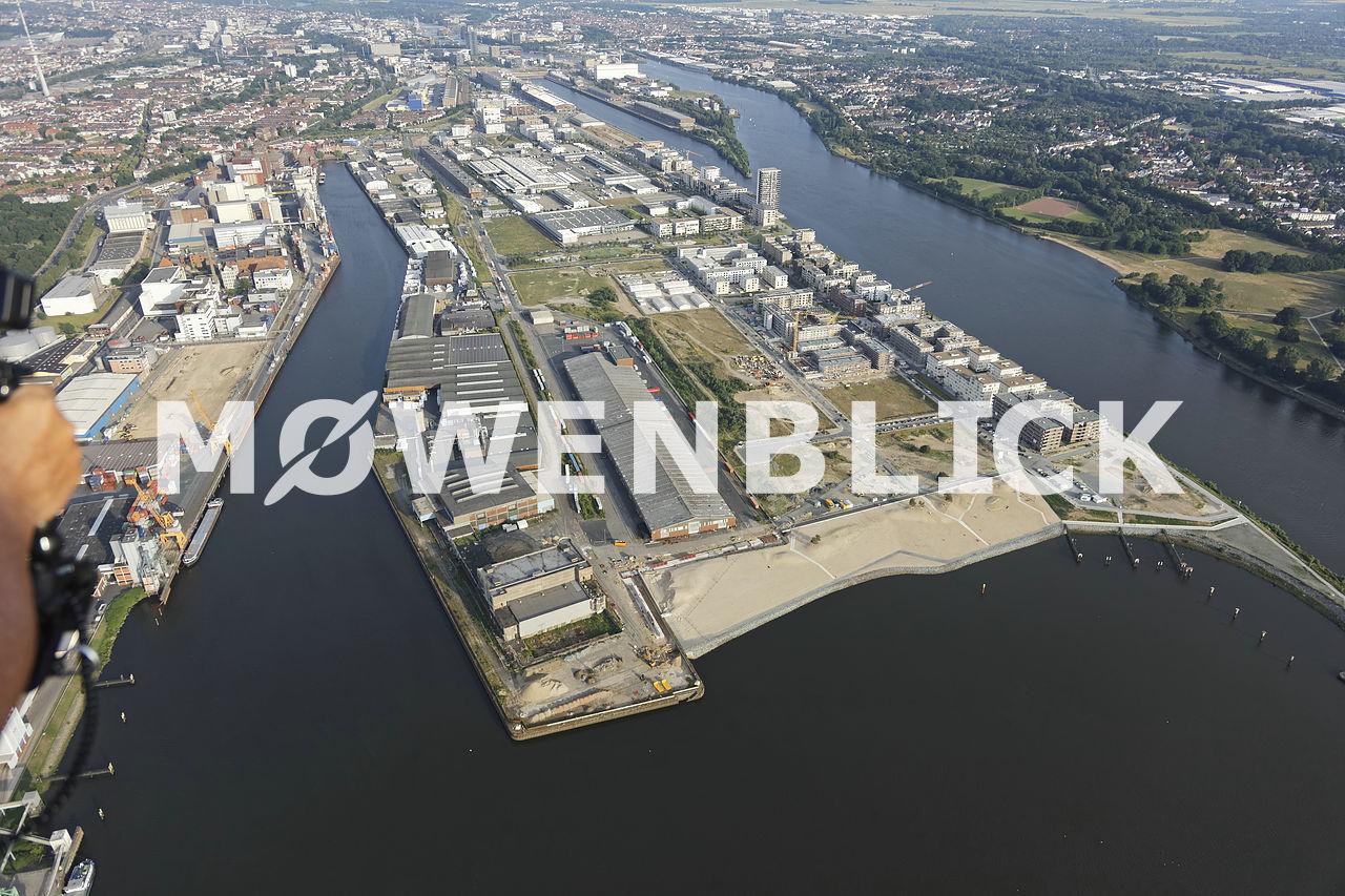 Waller Strand Überseestadt Luftbild