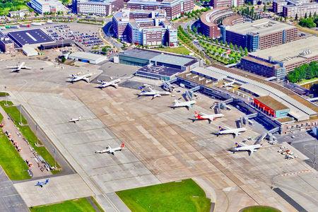 Luftaufnahme Flugzeuge