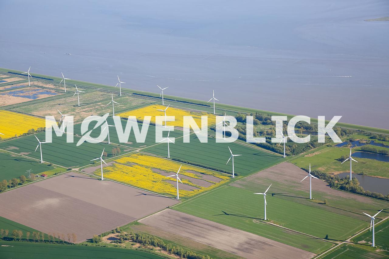 Windpark Emsdeich Luftbild