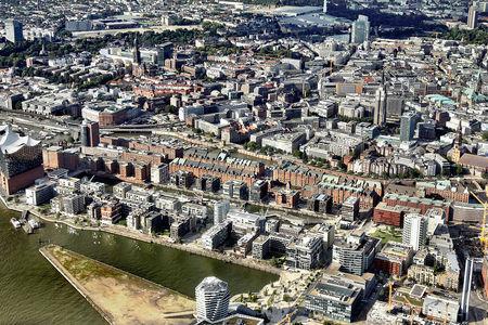 Luftaufnahme Speicherstadt