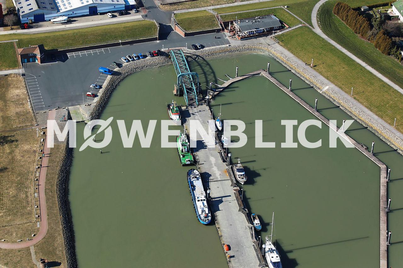 Steg am Nassauhafen Luftbild