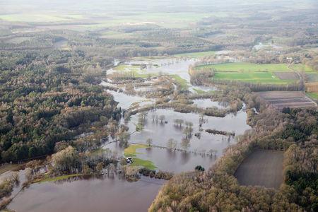 Die Hunte überschwemmt