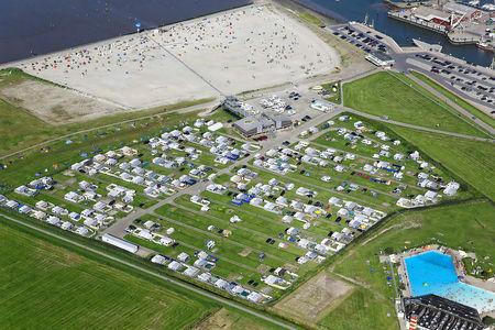 Luftaufnahme Campingplatz am Nordseestrand