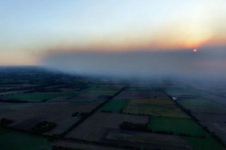 Luftaufnahme Moorfeuer