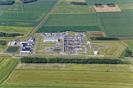 Luftaufnahme Stadt Dornum
