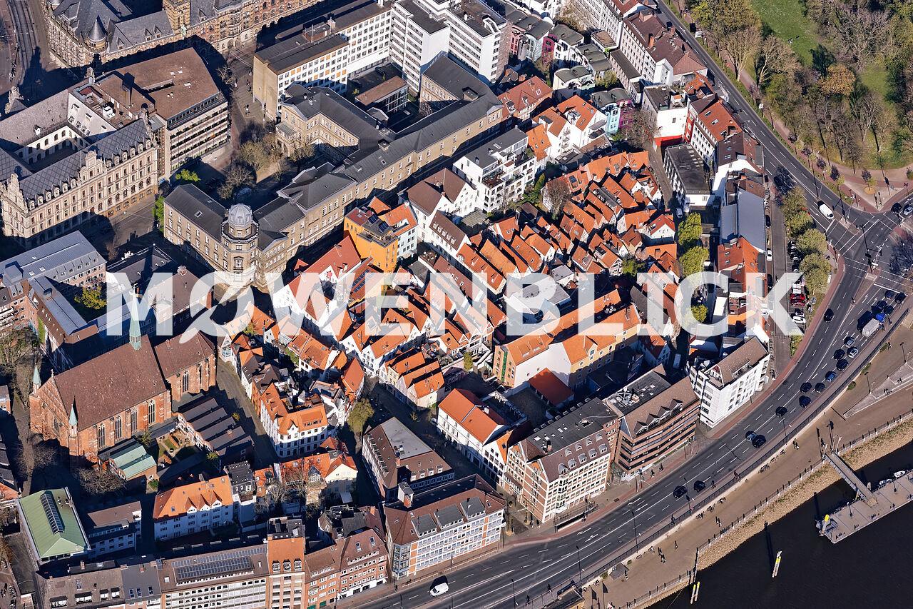 Schnoorviertel Luftbild