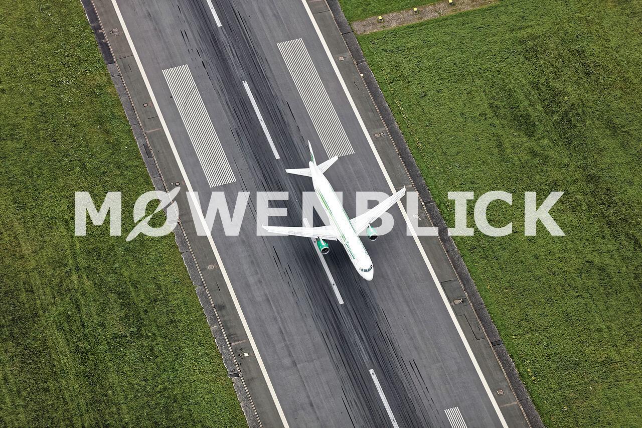 Landung Airliner Luftbild
