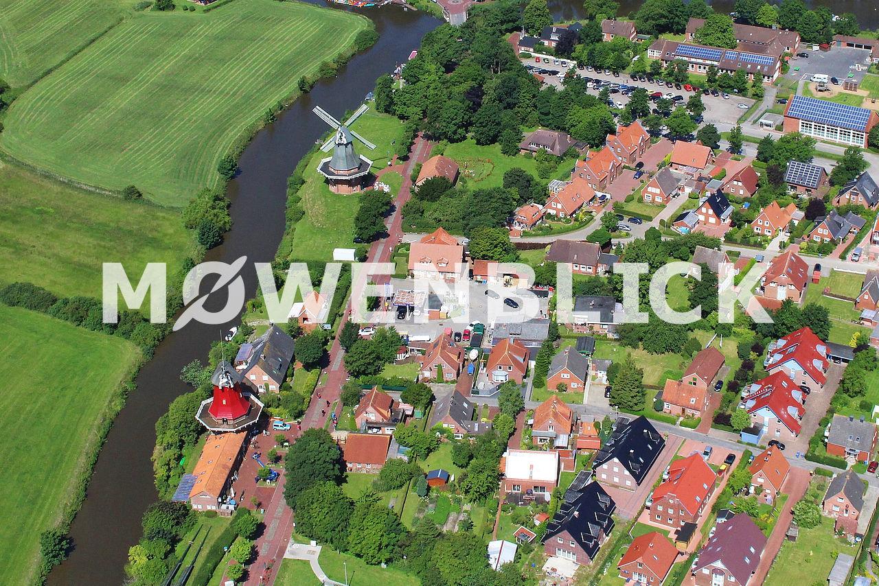 Zwillingsmühlen Luftbild