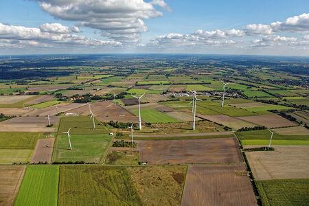 Luftaufnahme Windpark Schlahe