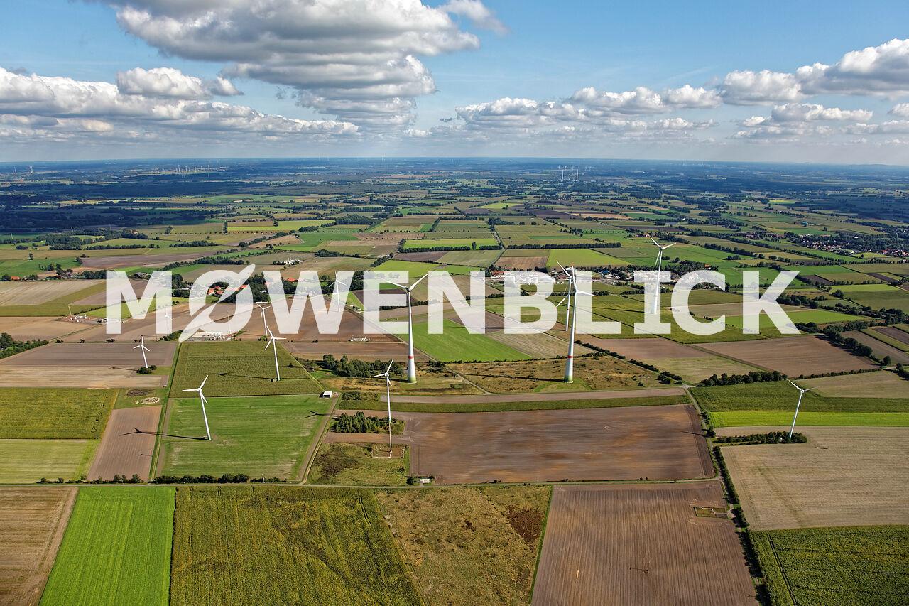 Windpark Schlahe Luftbild