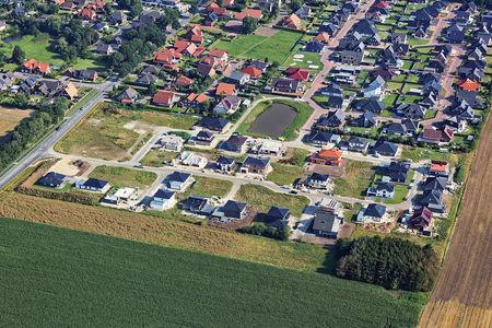 Luftaufnahme Ginsterstraße Neubaugebiet