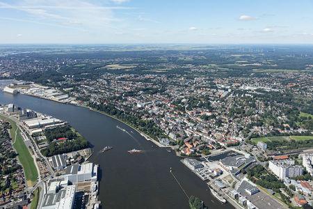 Luftaufnahme Vegesack