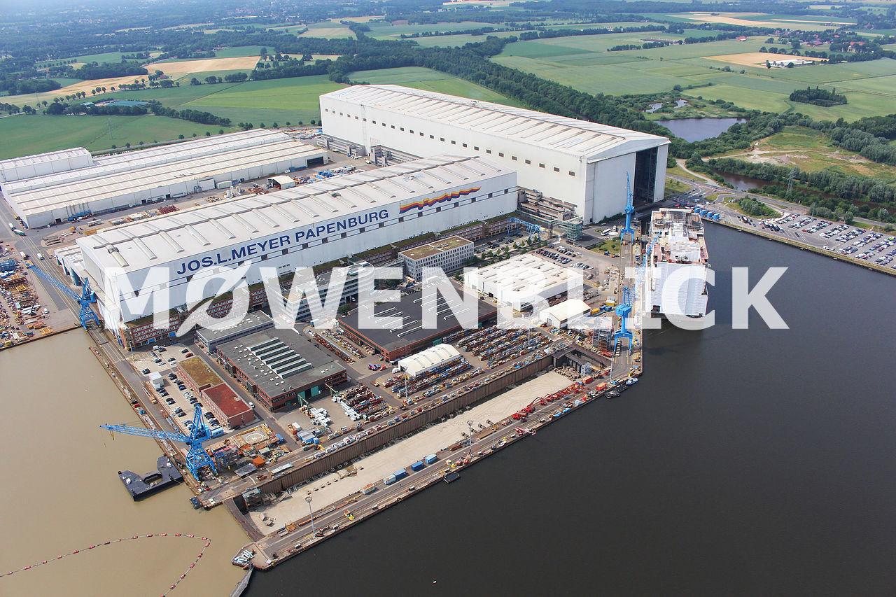 Meyer Werft Luftbild