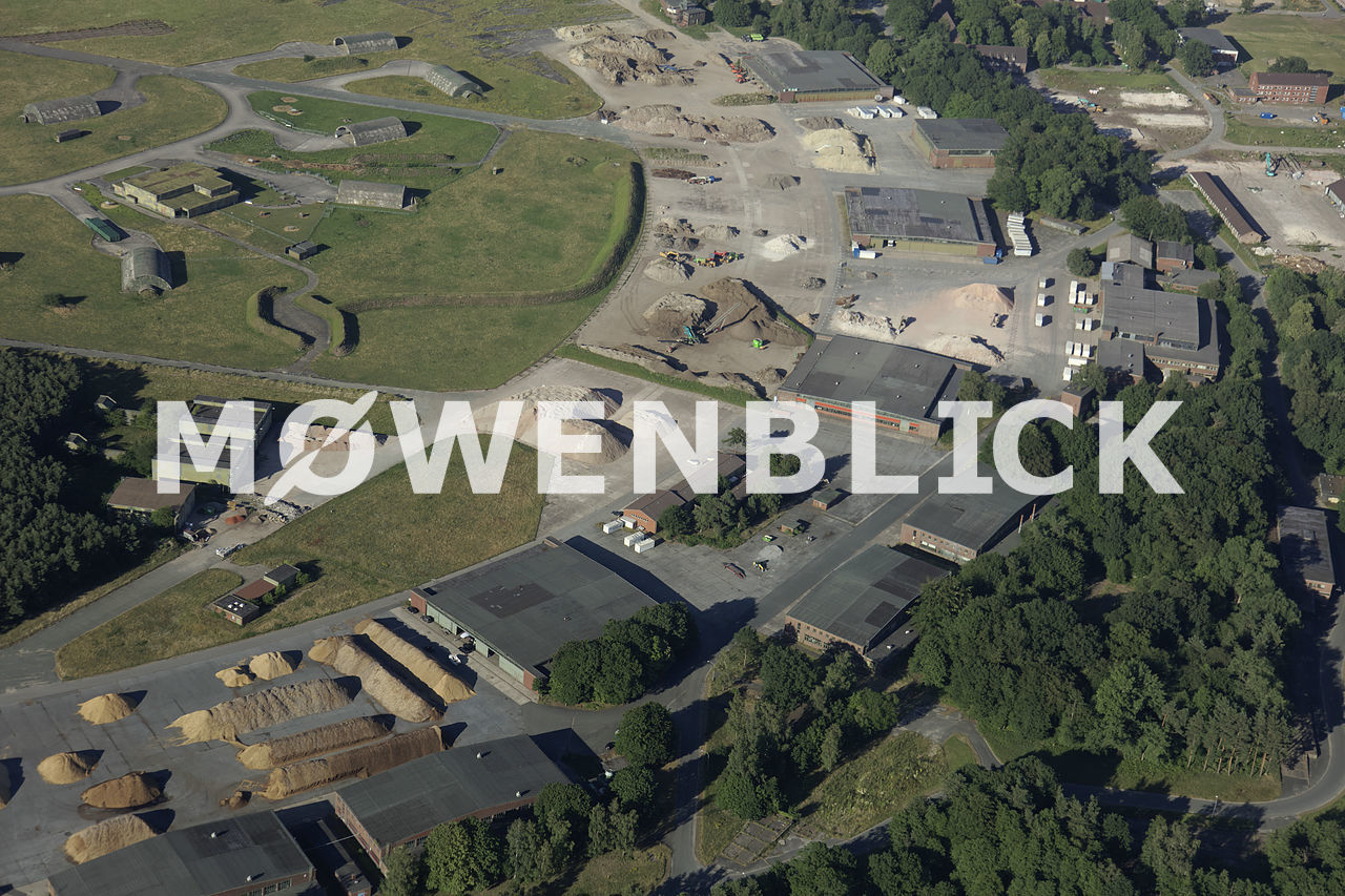 Fliegerhorstbaustelle Luftbild