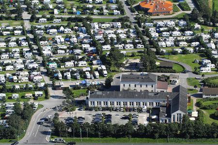 Luftaufnahme Nordsee Camp