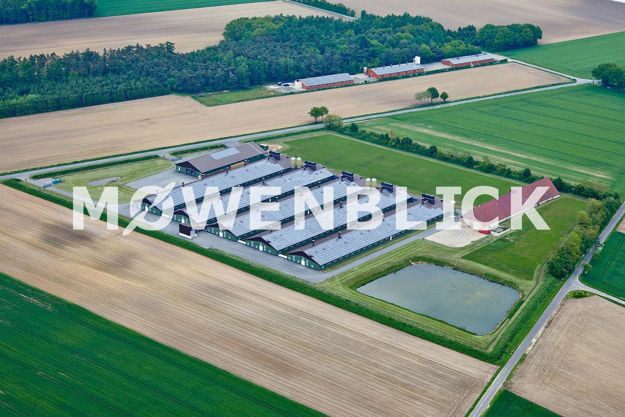 Landwirtschaftlich Stallanlagen Luftbild