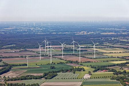 Luftaufnahme Windparkanlage Hatter Landstraße