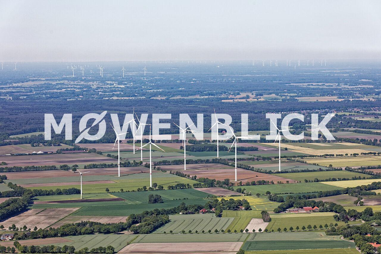 Windparkanlage Hatter Landstraße Luftbild