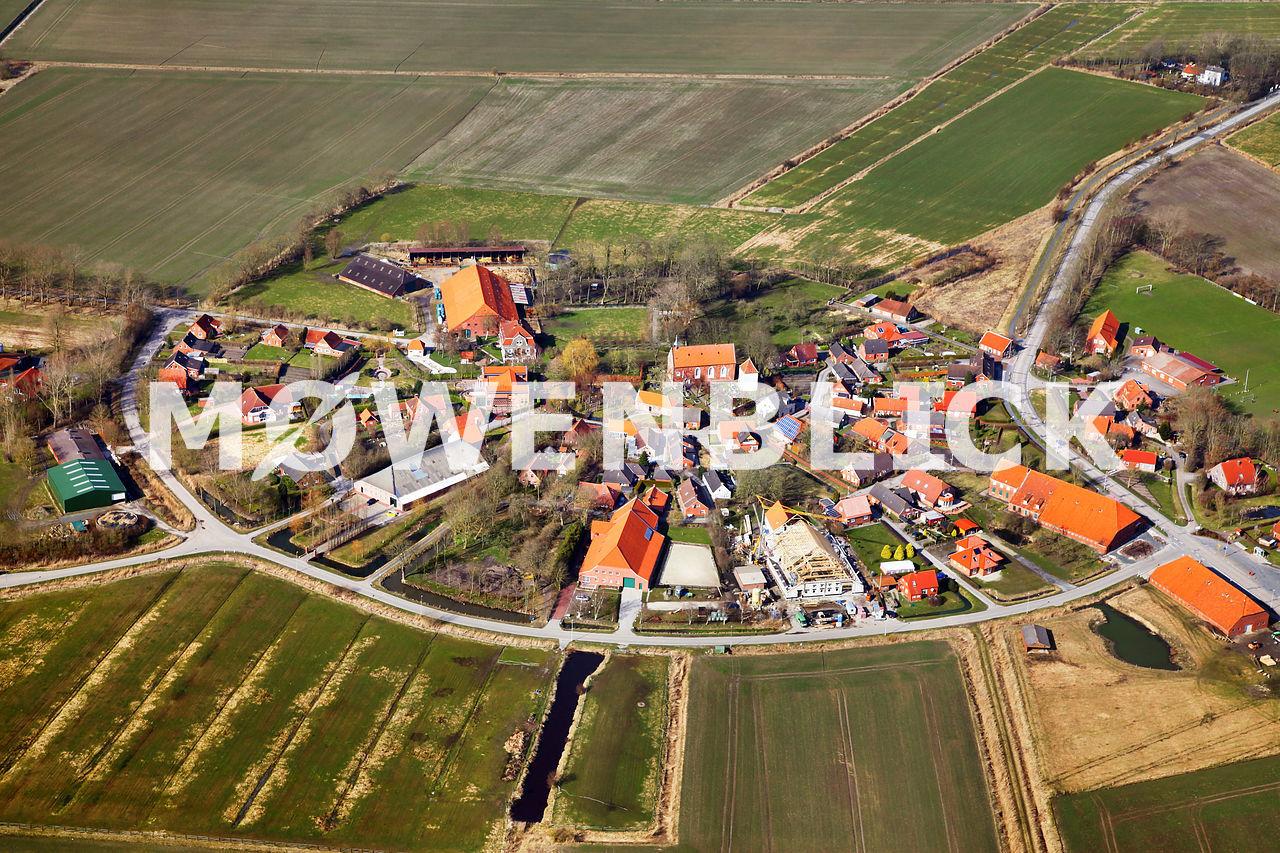 Historisches Runddorf Luftbild