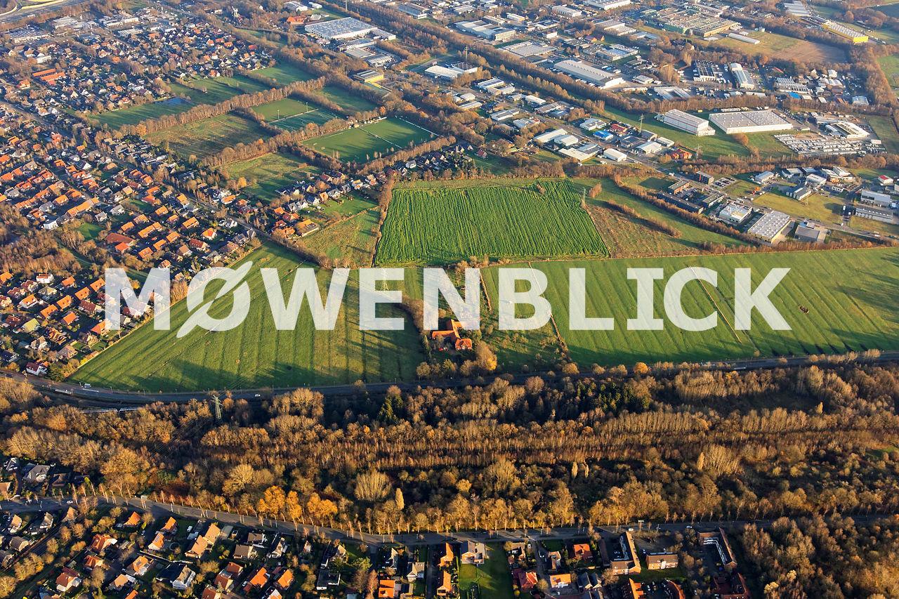 Storchweg Kiebitzweg Am Bahndamm Luftbild