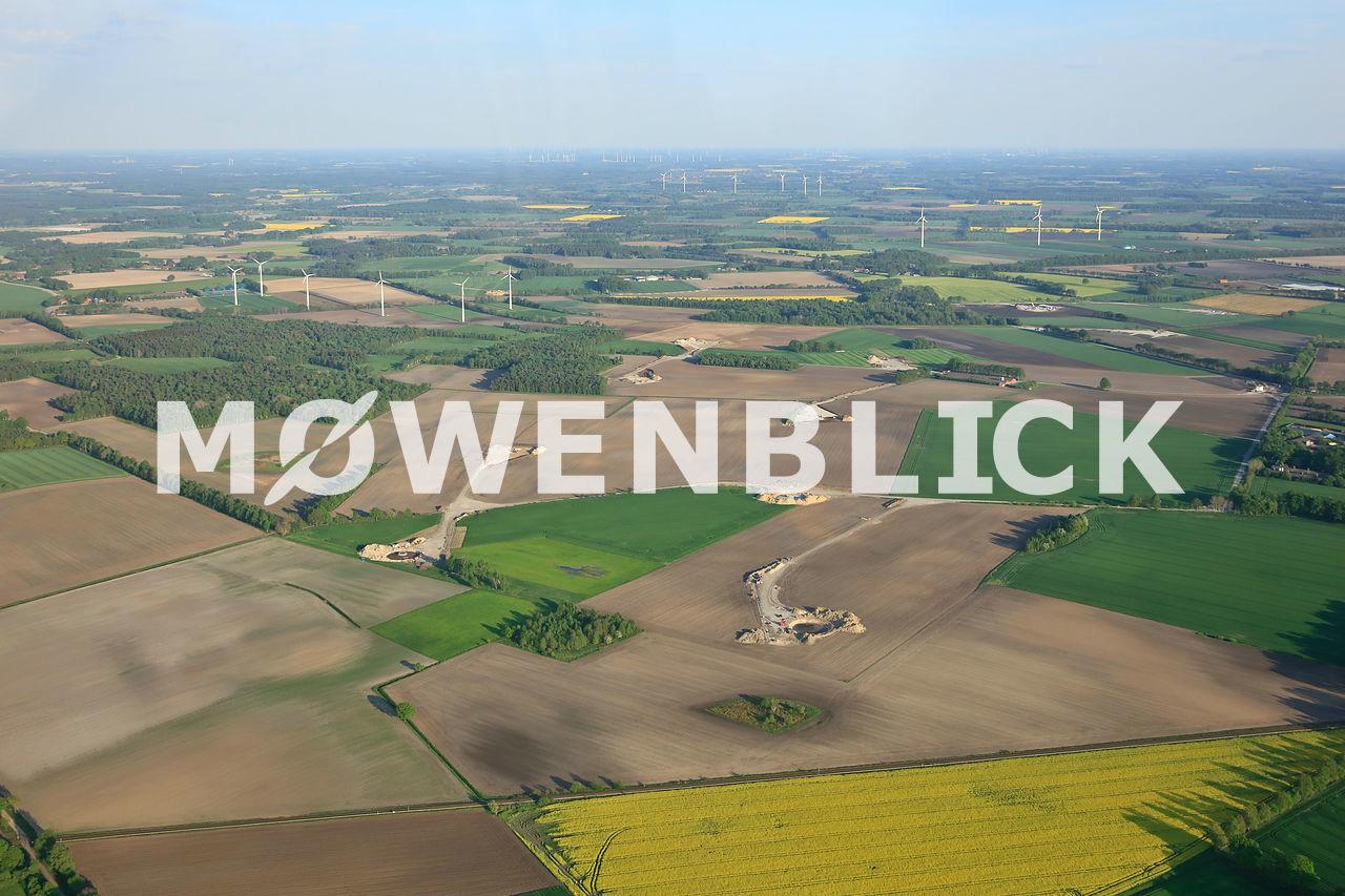 Baustelle Windpark Hengsterholzer Weg Luftbild