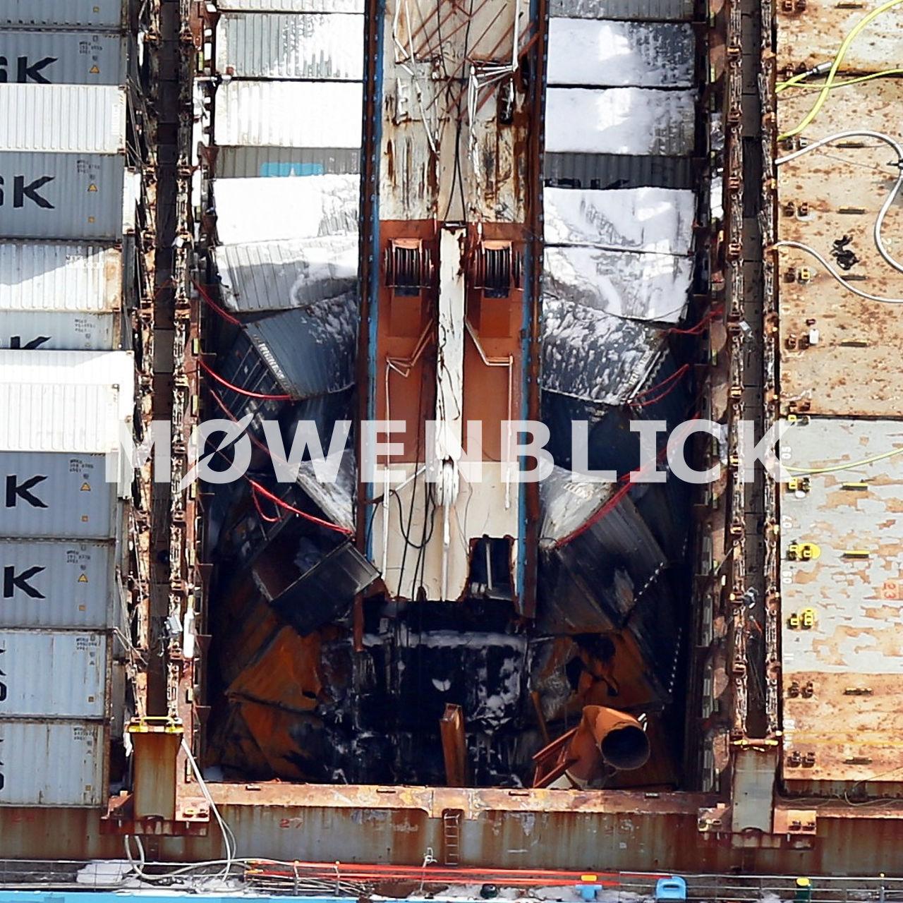 Maersk Karachi Kran Luftbild