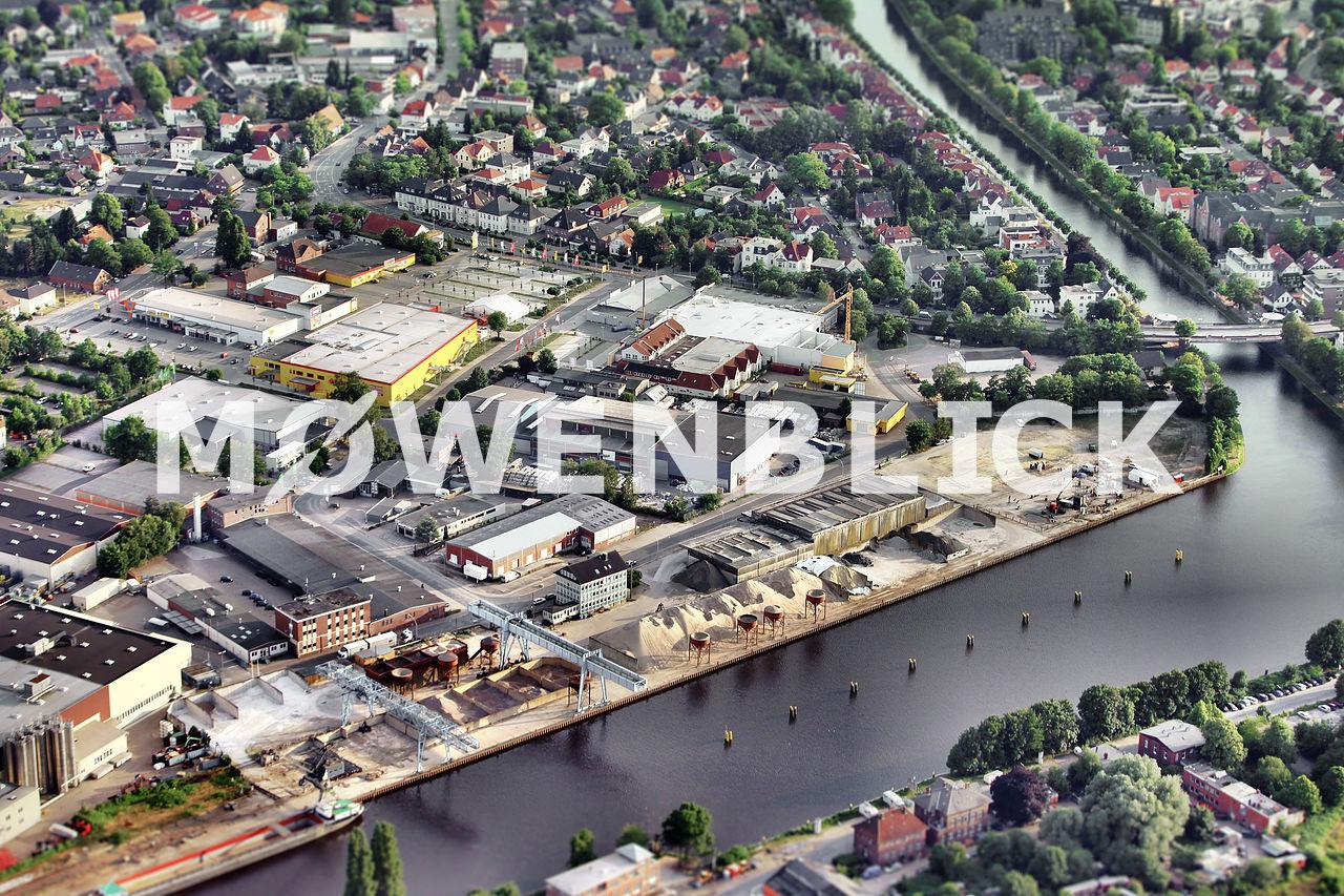 Rheinstraße Luftbild