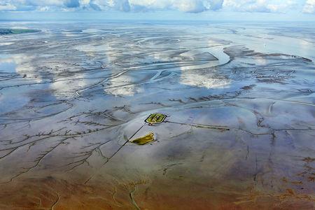 Luftaufnahme Wesermündung