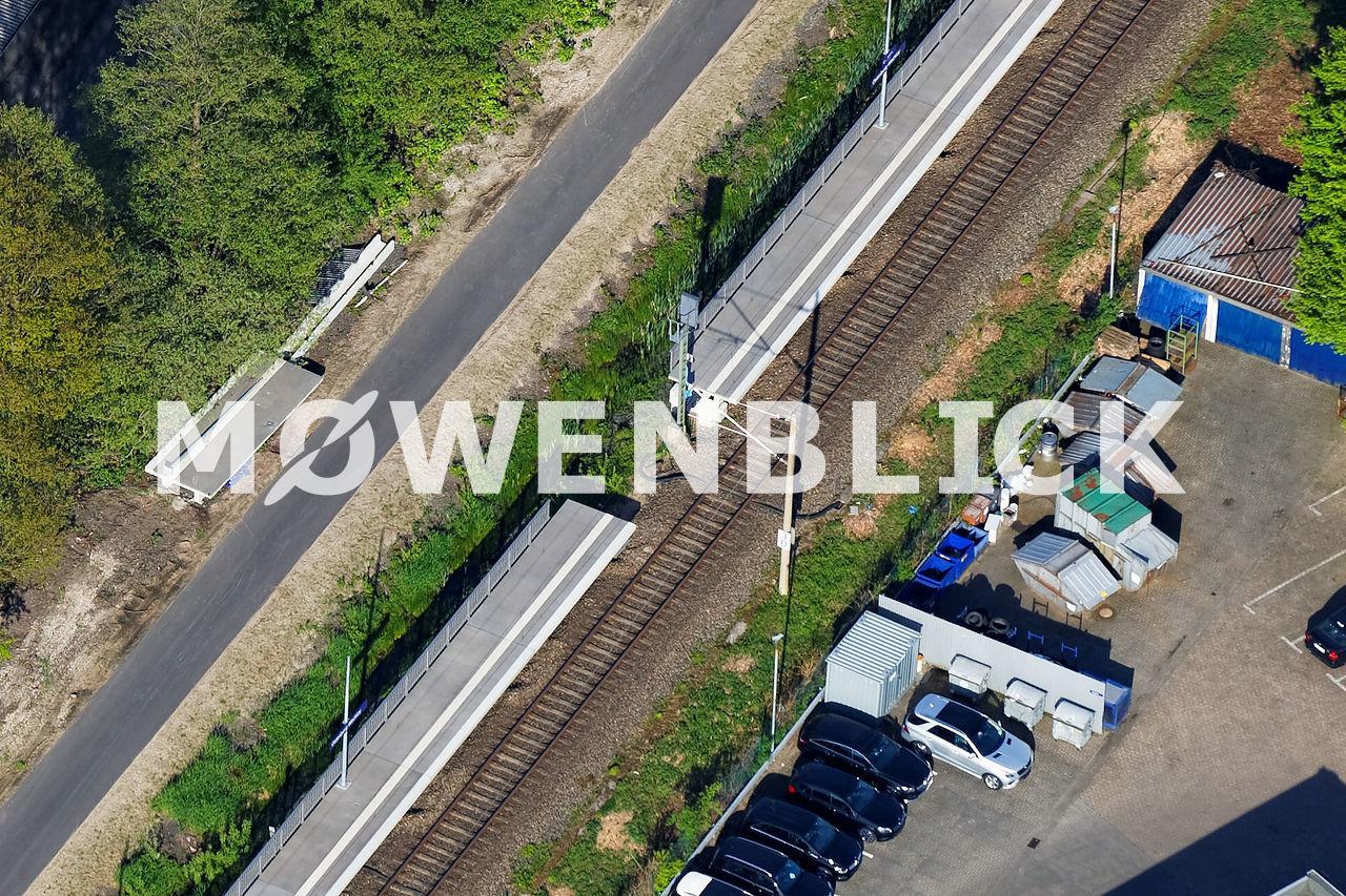 Bahnsteig Wechloy Luftbild