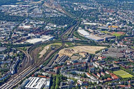 Luftaufnahme Stadt Altona