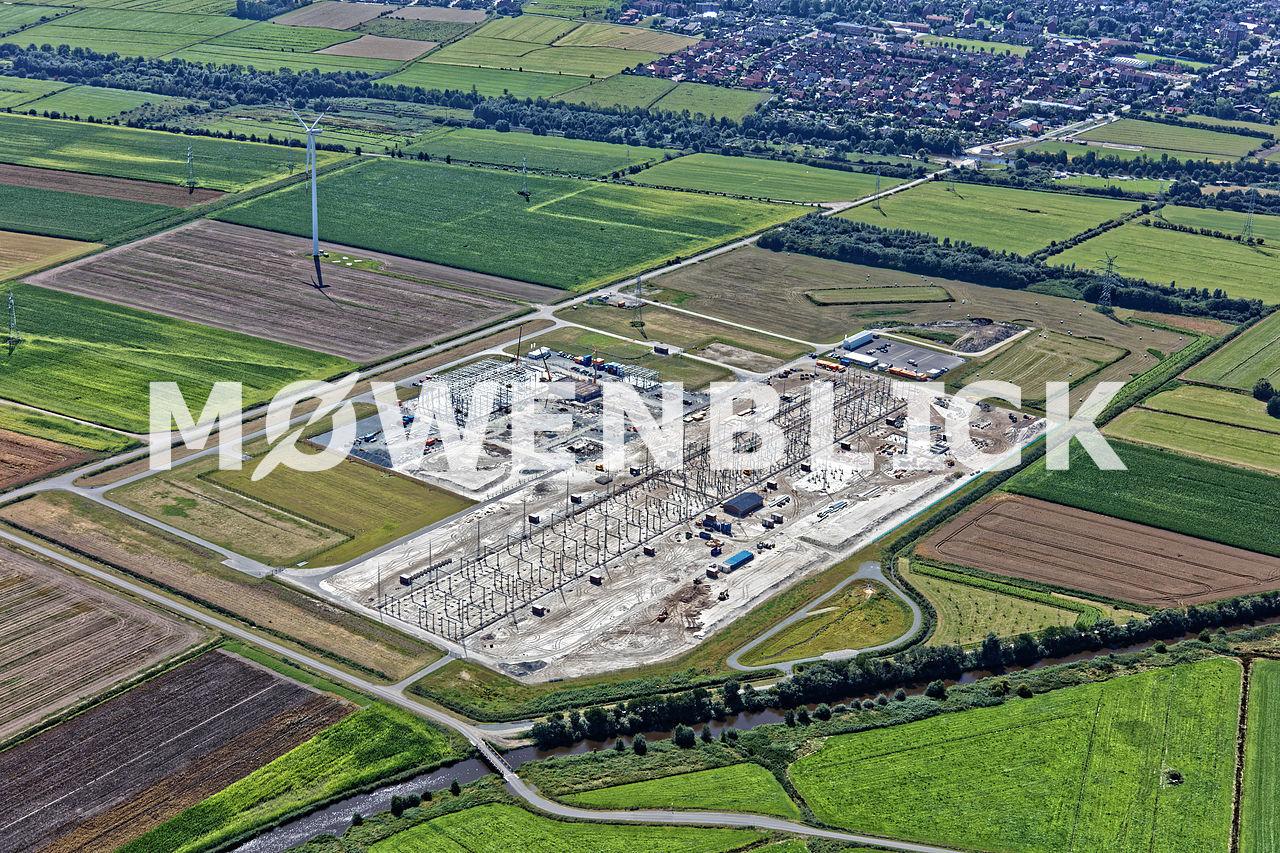 Konverterstation Wykhoffweg Luftbild