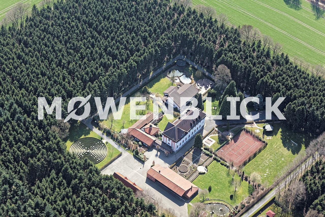 Bildungs und Begegnungshaus Jugendkloster Ahmsen Luftbild