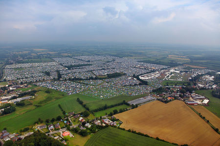Luftaufnahme Wacken 2014