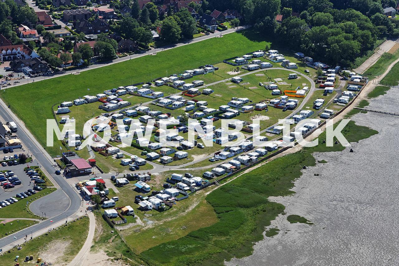 Campingplatz Rennweide Dangast Luftbild