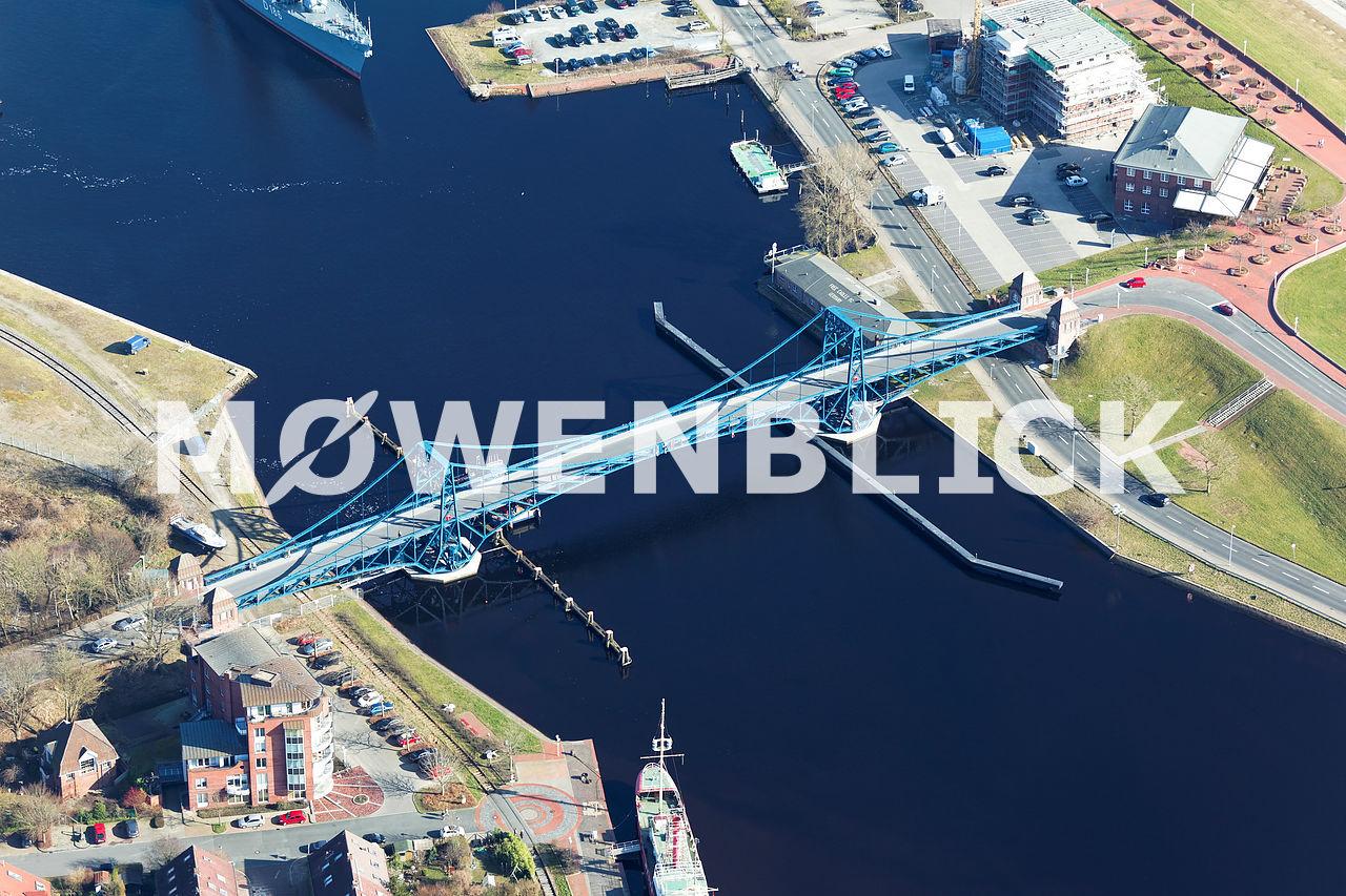 Kaiser-Wilhelm-Brücke Luftbild