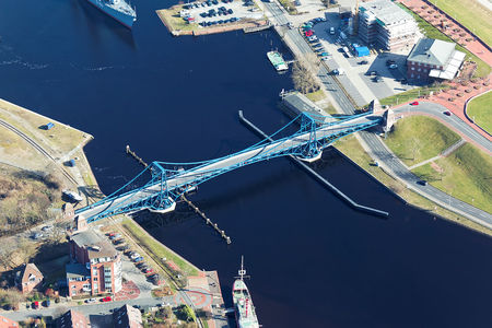 Luftaufnahme Kaiser-Wilhelm-Brücke