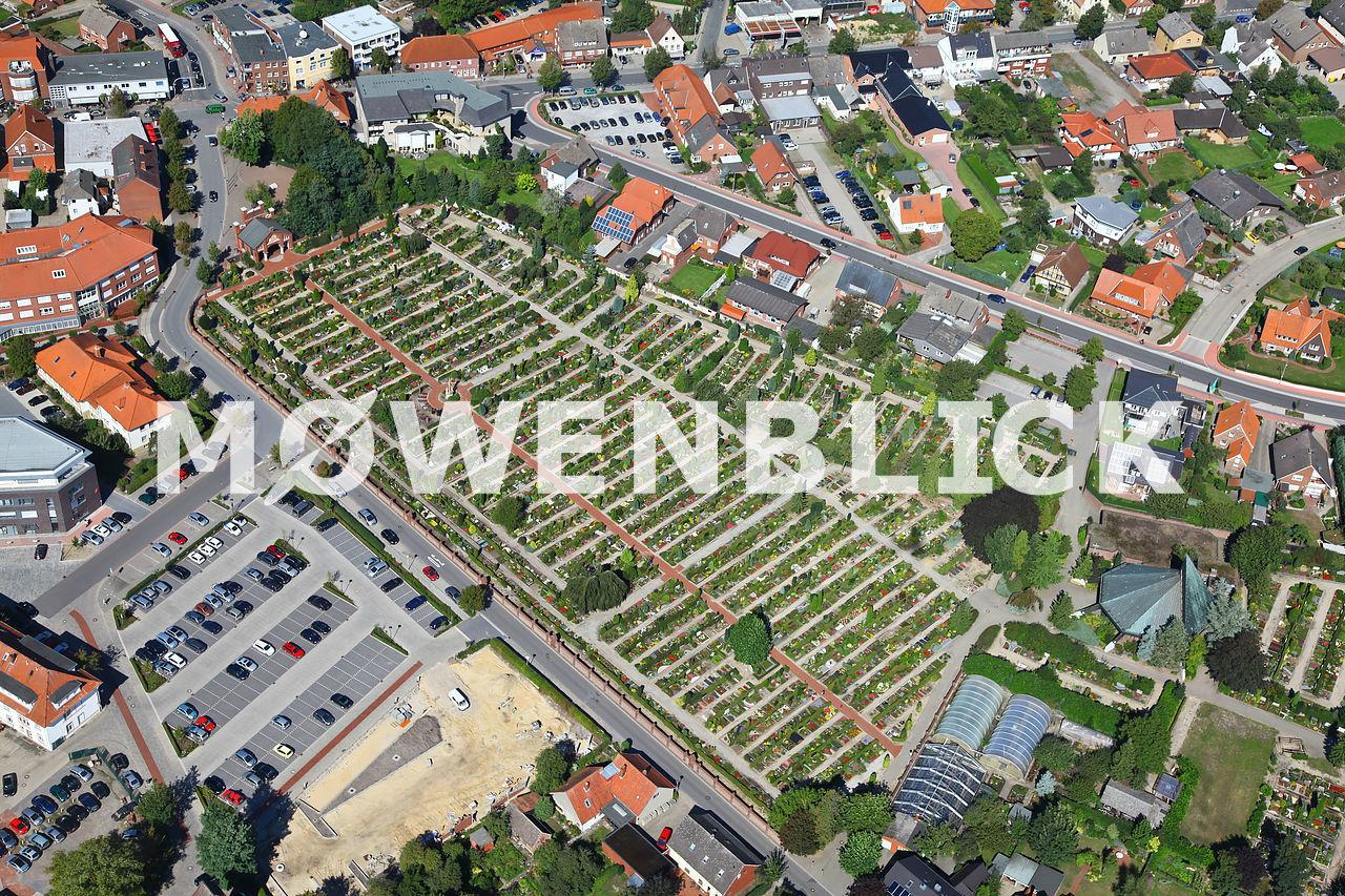 Katholischer Friedhof Luftbild