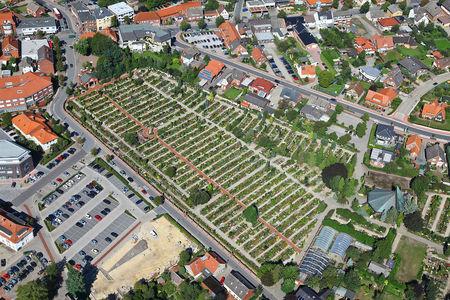 Luftaufnahme Katholischer Friedhof