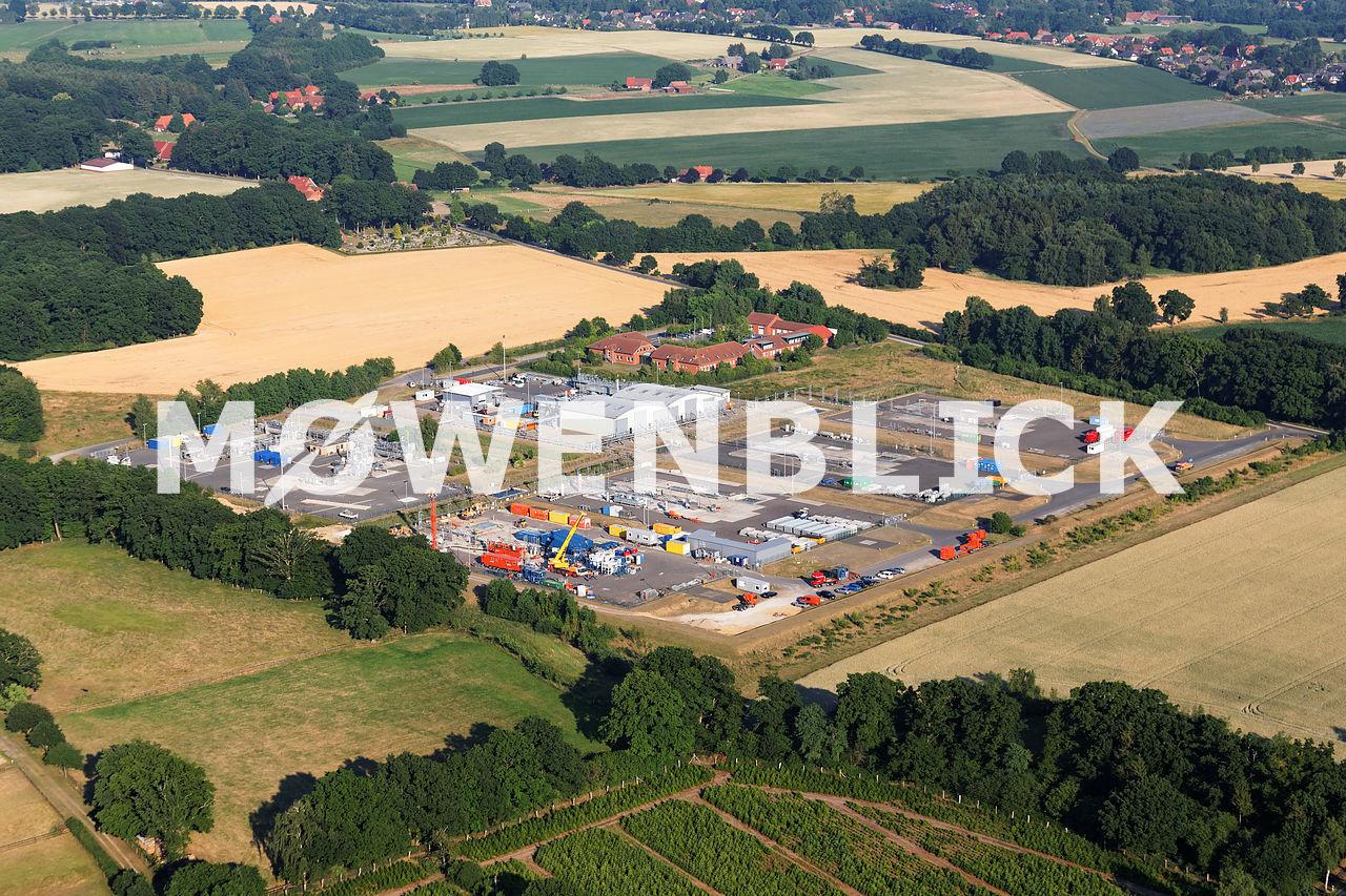 RWE Dea Förderbetrieb Niedersachsen Luftbild